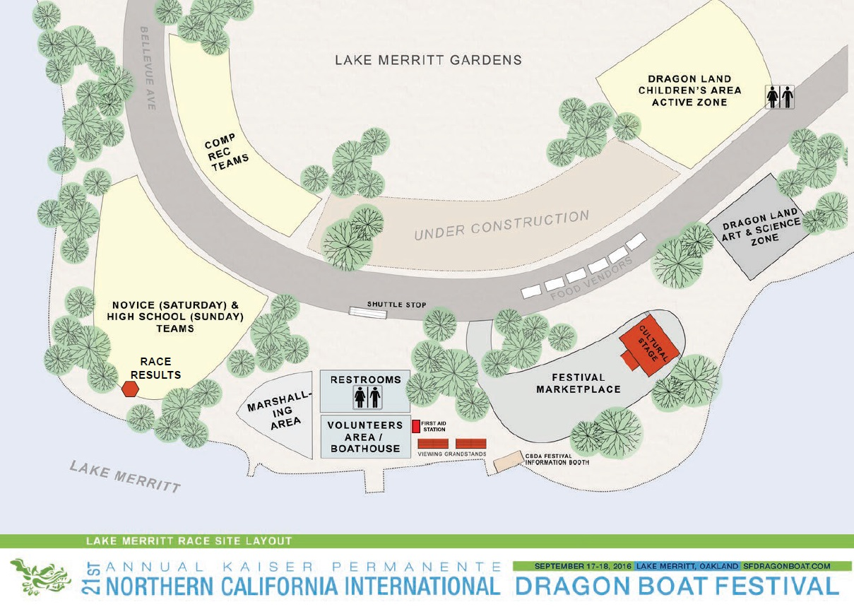 Map of the Dragon Boat Festival